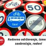 Redovno održavanje, izmene saobraćaja, radovi