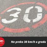 Ne preko 30 km/h u gradu