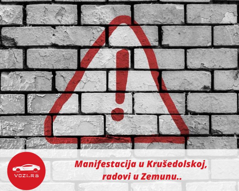 Manifestacija u Krušedolskoj, radovi u Zemunu..