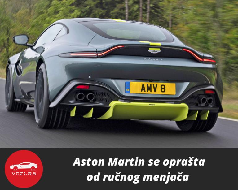 Aston Martin se oprašta od ručnog menjača