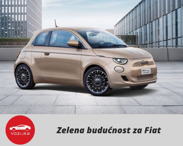 Zelena Buducnost Fiat 500e elektro